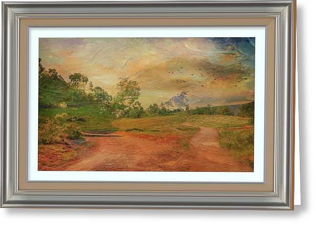 Dusk In The Hills Greeting Card