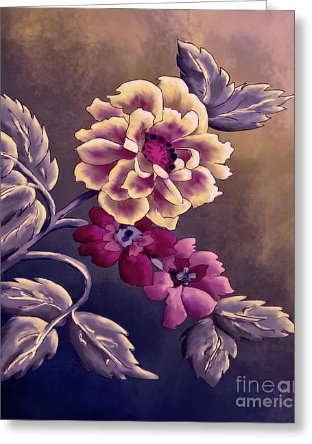 Dusky Wild Roses Greeting Card