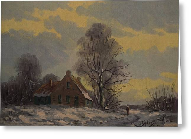 Dutch Snow Landscape Greeting Card