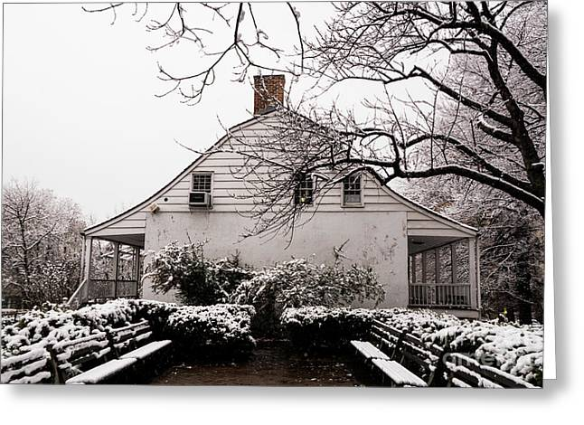 Greeting Card featuring the photograph Dyckman Farmhouse In Winter by Cole Thompson