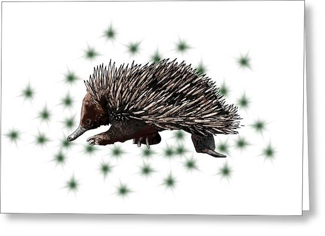 E Is For Echidna Greeting Card