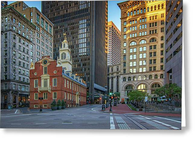 Early Morning At The Old Statehouse Greeting Card