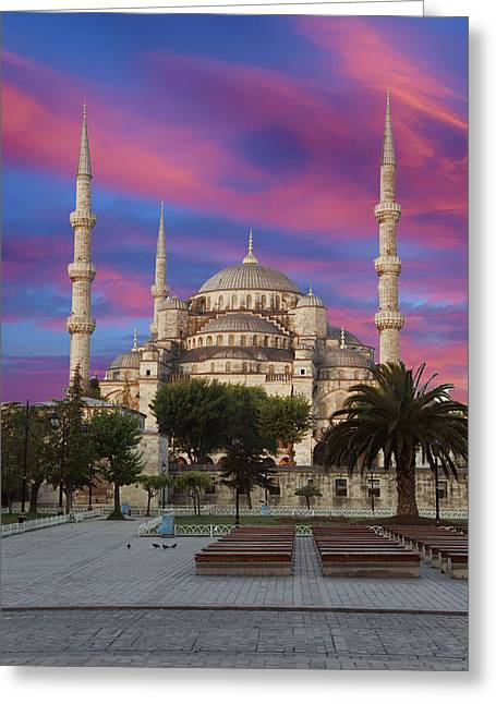 Early Morning Light On  Sultan Ahmet Camii Greeting Card
