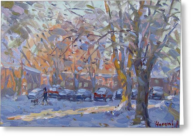 Early Morning Winter Scene Greeting Card