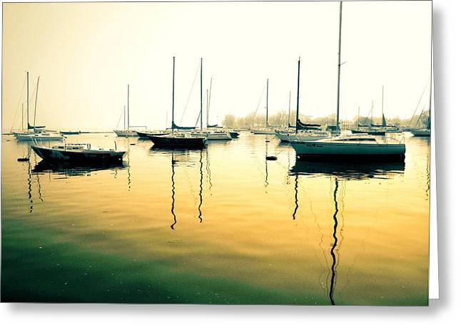 Early Mornings At The Harbour Greeting Card
