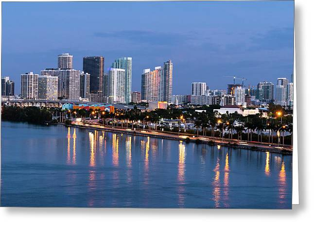 Early Rise Miami Greeting Card