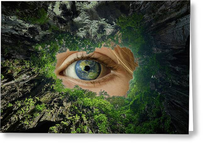 Earth Is Watching You Greeting Card