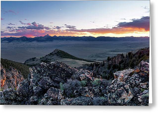 East Central Idaho Sunset Greeting Card