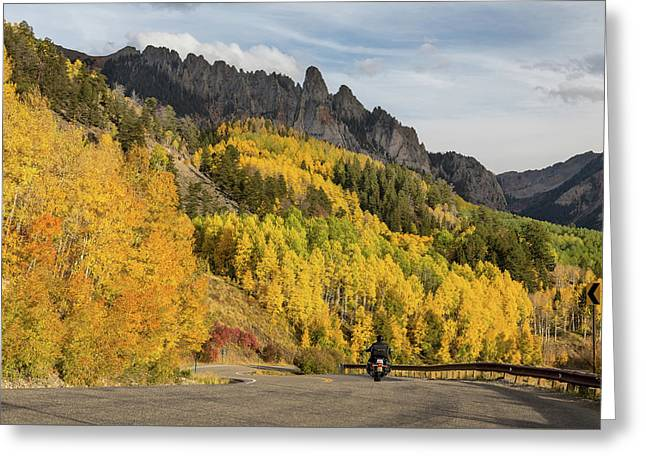 Greeting Card featuring the photograph Easy Autumn Rider by James BO Insogna