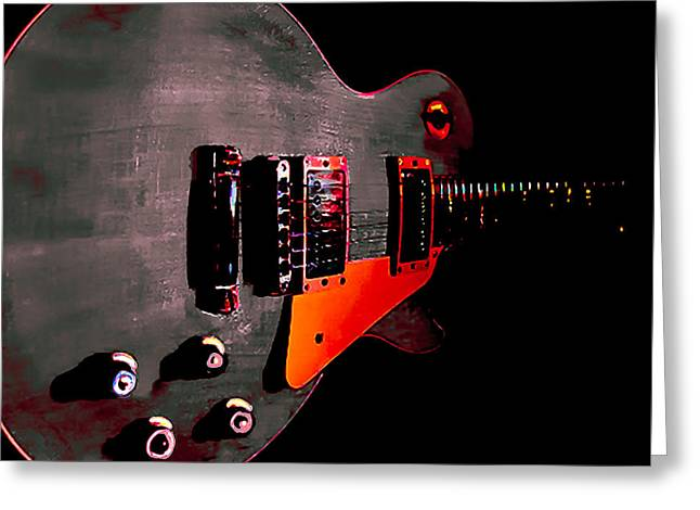 Ebony Relic Guitar Hover Series Greeting Card