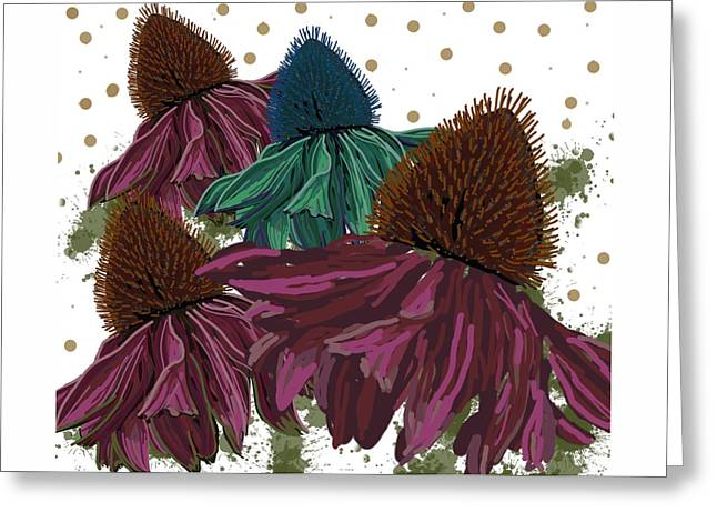 Echinacea Flower Skirts Greeting Card