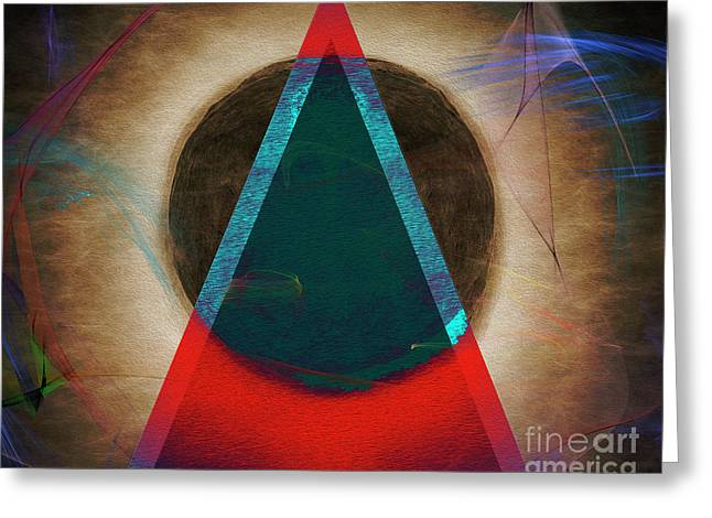 Greeting Card featuring the digital art Eclipse 2024 by Edmund Nagele