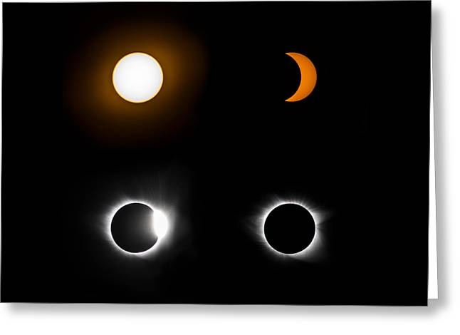 Eclipse Phases Greeting Card by Christine Buckley