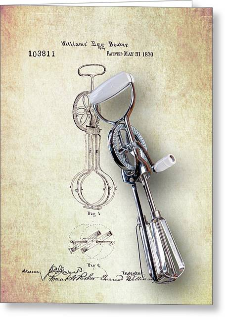 Eggbeater With Antique Eggbeater Patent Greeting Card