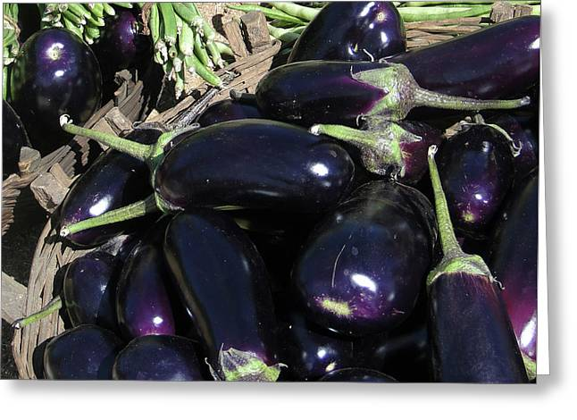 Eggplants   For Sale In In Chatikona  Greeting Card