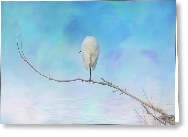 Egret On A Branch Greeting Card
