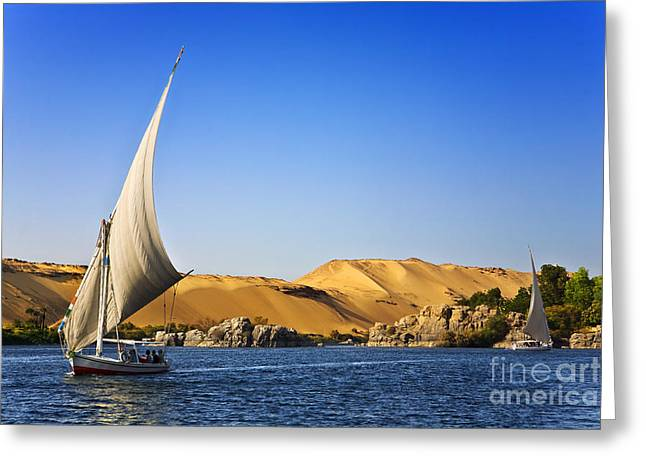 Egypt. The Nile At Aswan Greeting Card