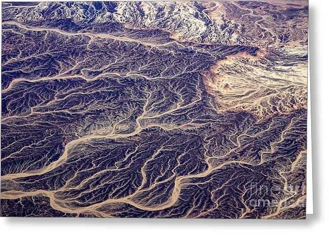 Egyptian Desert - Aerial View Greeting Card