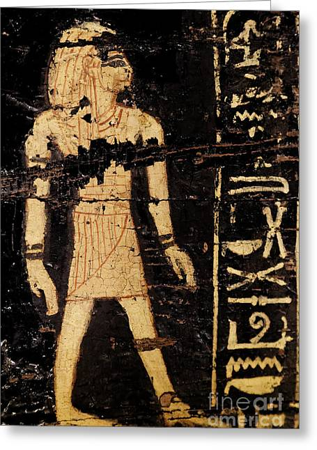 Greeting Card featuring the photograph Egyptian Immortal Art by Sue Harper