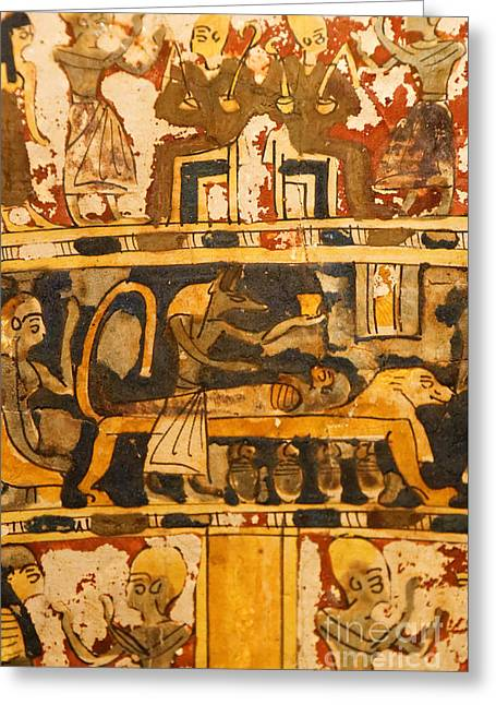 Greeting Card featuring the photograph Egyptian Wall Art by Sue Harper