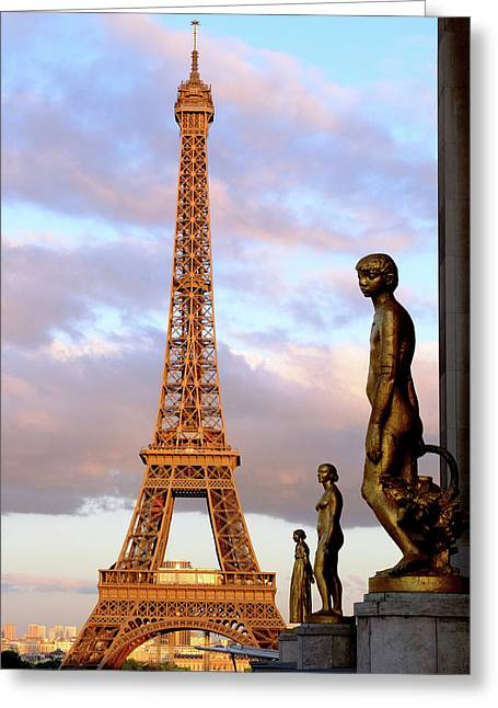 Eiffel Tower At Sunset Greeting Card