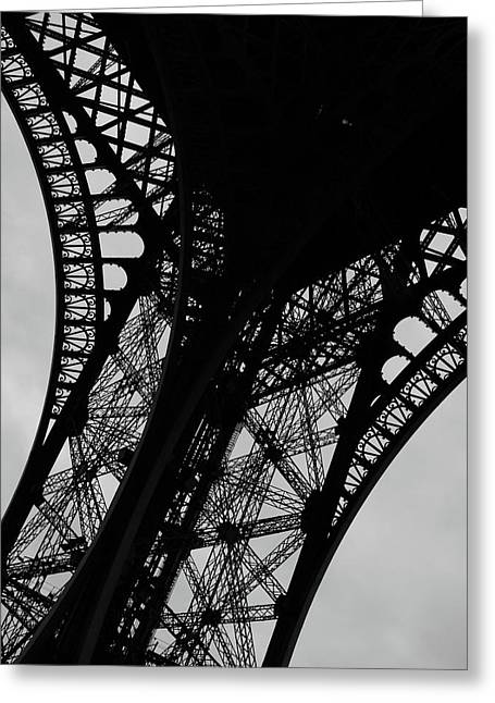 Greeting Card featuring the photograph Eiffel Tower, Base by Edward Lee