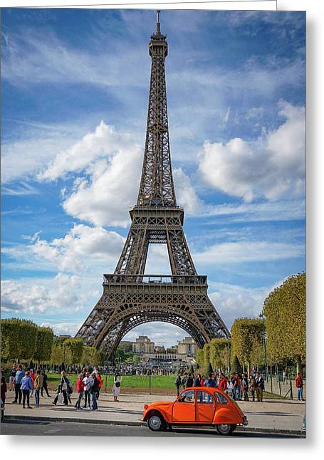 Greeting Card featuring the photograph Eiffel Tower by Jim Mathis
