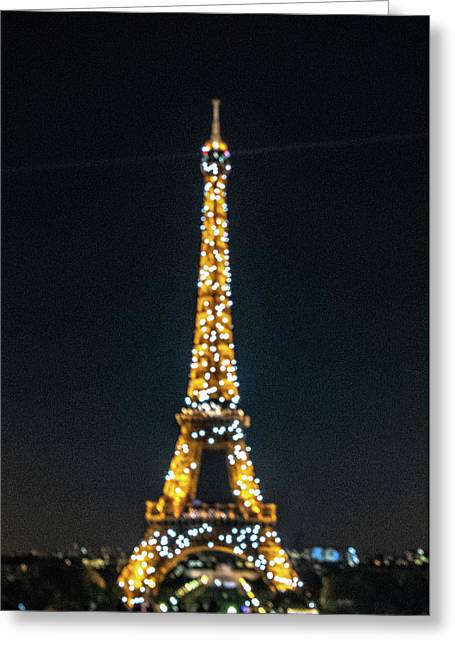 Greeting Card featuring the photograph Eiffel Tower by Randy Scherkenbach