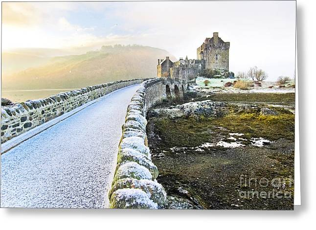 Eilean Donan Castle In Winter Greeting Card