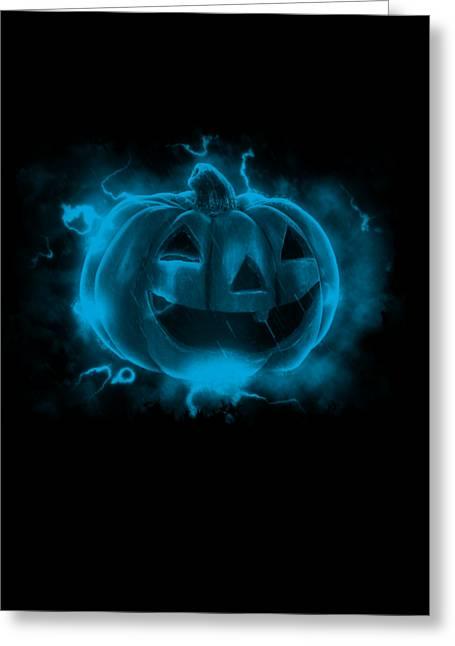 Electric Pumpkin Greeting Card
