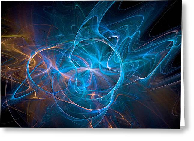 Electric Universe Blue Greeting Card