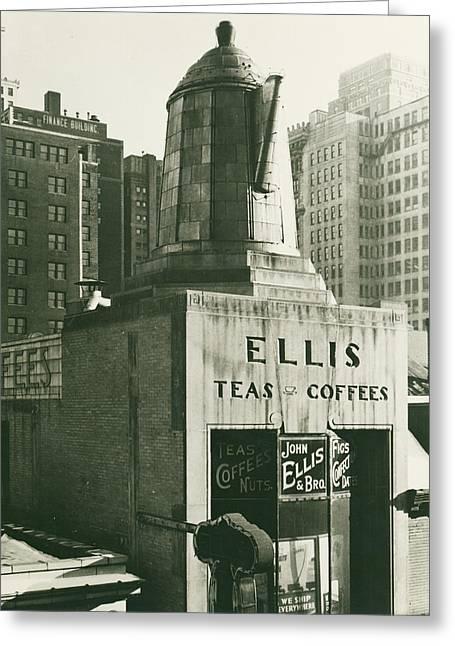 Ellis Tea And Coffee Store, 1945 Greeting Card