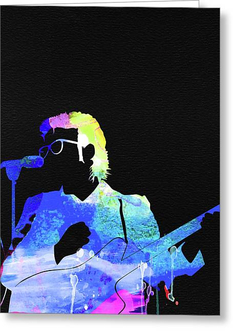 Elvis Costello Watercolor Greeting Card