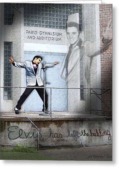 Elvis Has Left The Building Greeting Card