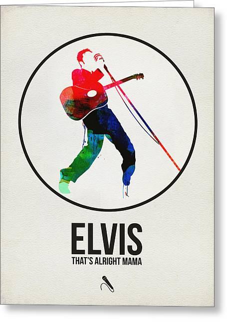 Elvis Presley Watercolor Greeting Card