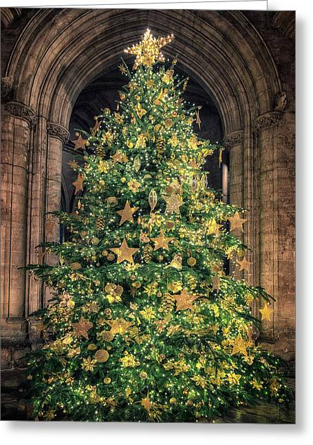 Ely Cathedral Christmas Tree 2018 Greeting Card