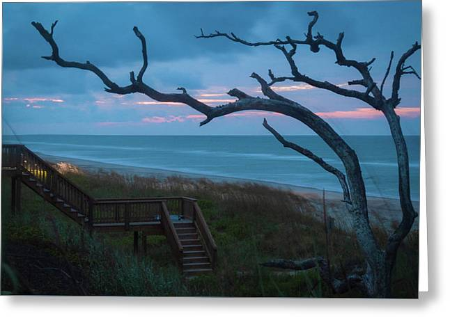 Emerald Isle Obx - Blue Hour - North Carolina Summer Beach Greeting Card