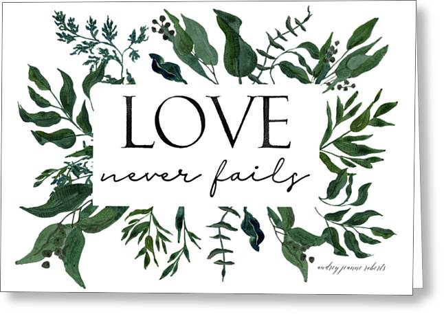 Emerald Wild Forest Foliage 2 Watercolor Greeting Card