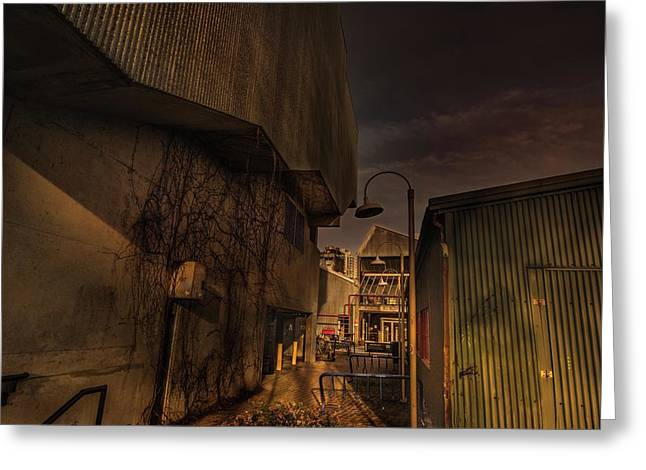 Greeting Card featuring the photograph Emily Carr Alley by Juan Contreras