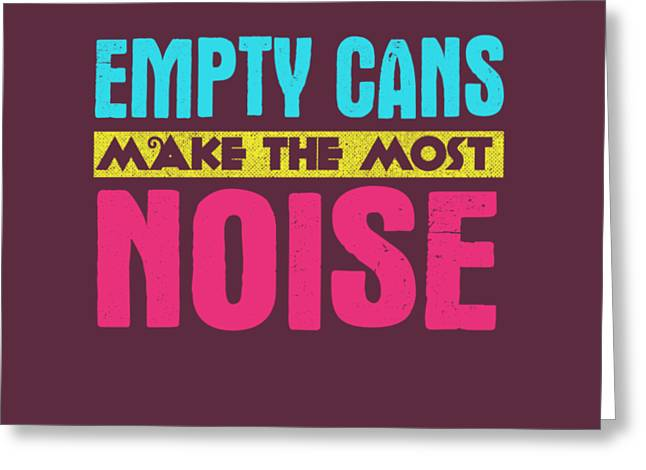 Empty Cans Greeting Card
