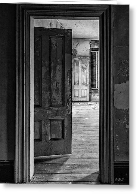 Greeting Card featuring the photograph Empty Room I Bw by David Gordon