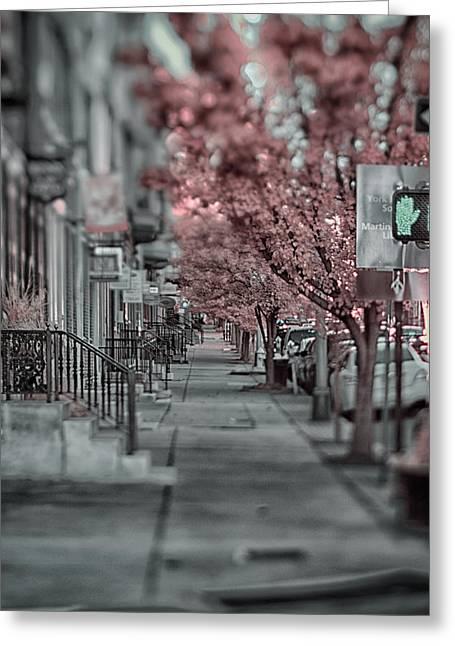 Empty Sidewalk Greeting Card