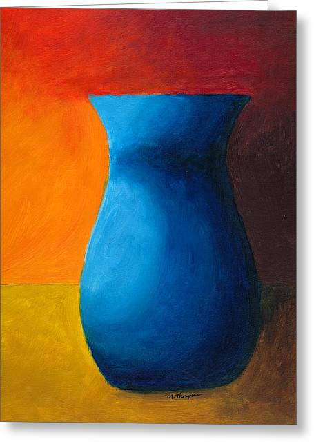 Empty Vases- Blue Greeting Card