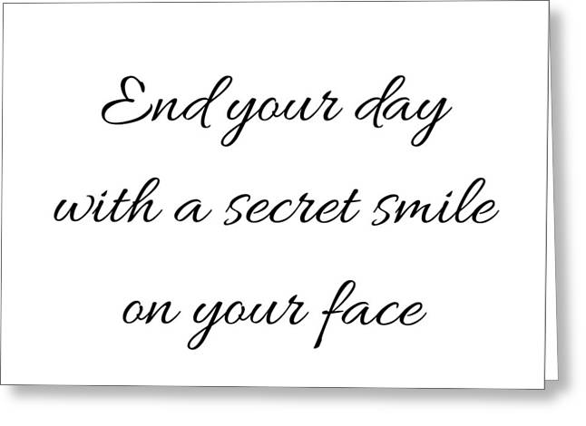 End Your Day Greeting Card