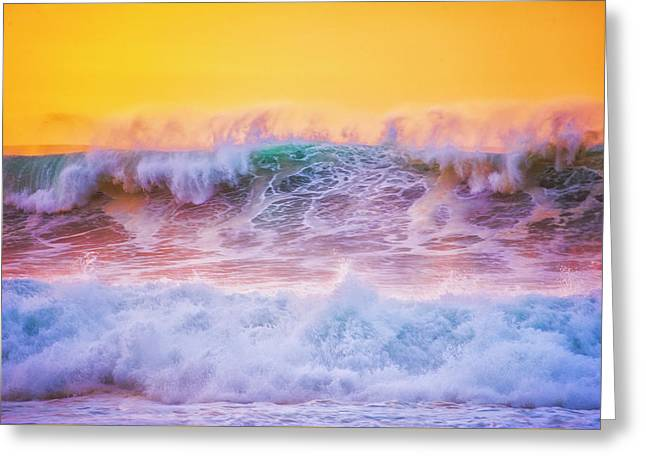 Endless Waves Greeting Card by Fernando Margolles