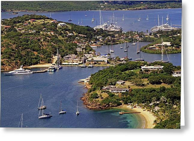 Greeting Card featuring the photograph English Harbour by Tony Murtagh
