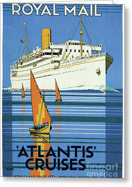 English Royal Mail Atlantis Ocean Liner Greeting Card