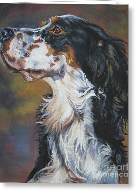 English Setter Tricolor Greeting Card