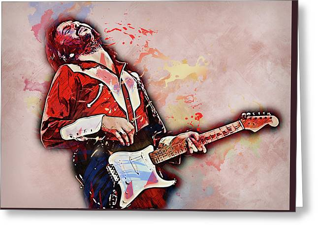 Eric Clapton - 14 Greeting Card by Andrea Mazzocchetti