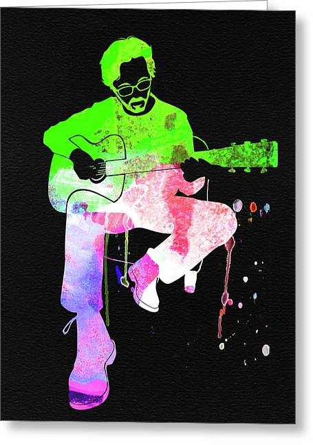 Eric Clapton Stone Watercolor Greeting Card